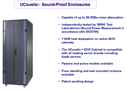 Ucoustic 9210 Introduction, Floor Cabinet or Wall Mount, Active or Passive Cooling/Airflow